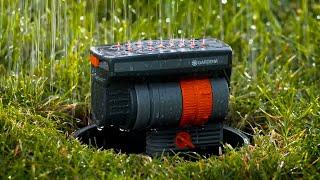 Автополив газона своими руками - обучающее видео от Gardena. Обзор системы подземного полива Gardena