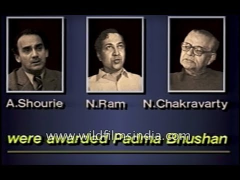 Arun Shourie, N. Ram and Nikhil Chakravarty, Indian journalists declined Padma Bhushan award