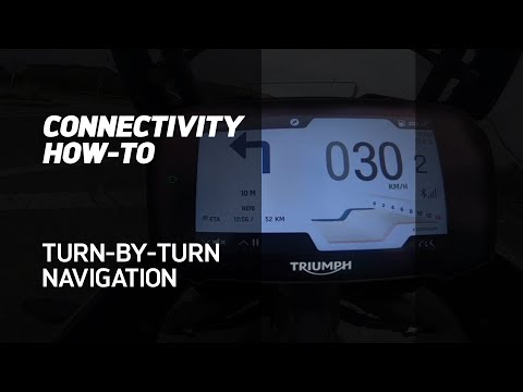 MY TRIUMPH CONNECTIVITY HOW-TO - Use turn-by-turn Navigation