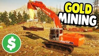 BIGGEST MINING EQUIPMENT BUILD | Gold Rush: The Game Gameplay