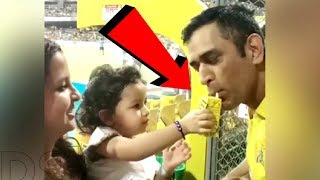 Ziva Dhoni Giving Frooti To Father MS Dhoni  CUTEST V DEO