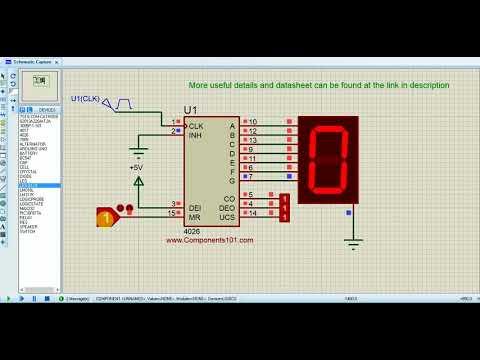 Working of CD4026 7Segment Counter IC  YouTube