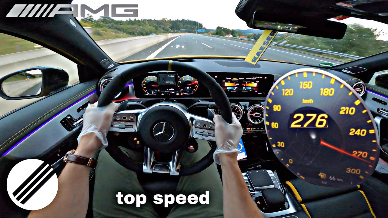 Download Mercedes-Benz A-Class A45 S AMG 421HP TOP SPEED DRIVE ON GERMAN AUTOBAHN 🏎
