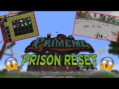 THE PRISON RESET IS HERE! | PrimeMC Prison