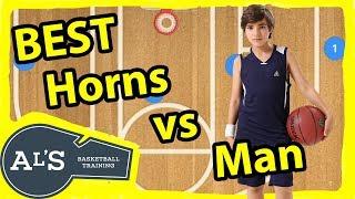 Best Horns Basketball Plays vs Man To Man Defense