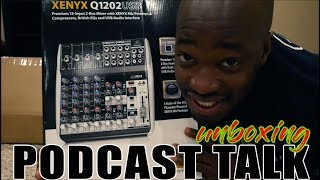 Podcast talk w the Behringer XENYX Q1202USB