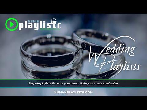 HumanPlaylistr Weddings. 100% handcrafted playlists. Make your wedding day perfect.