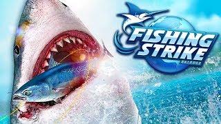 NOVO JOGO DE PESCA! - FISHING STRIKE #1 - TUBARÃO BRANCO!