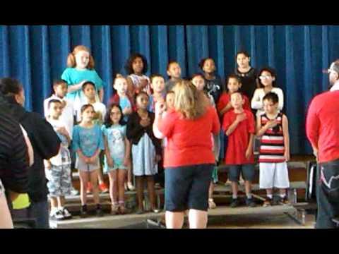 Wawecus road school sings the state song