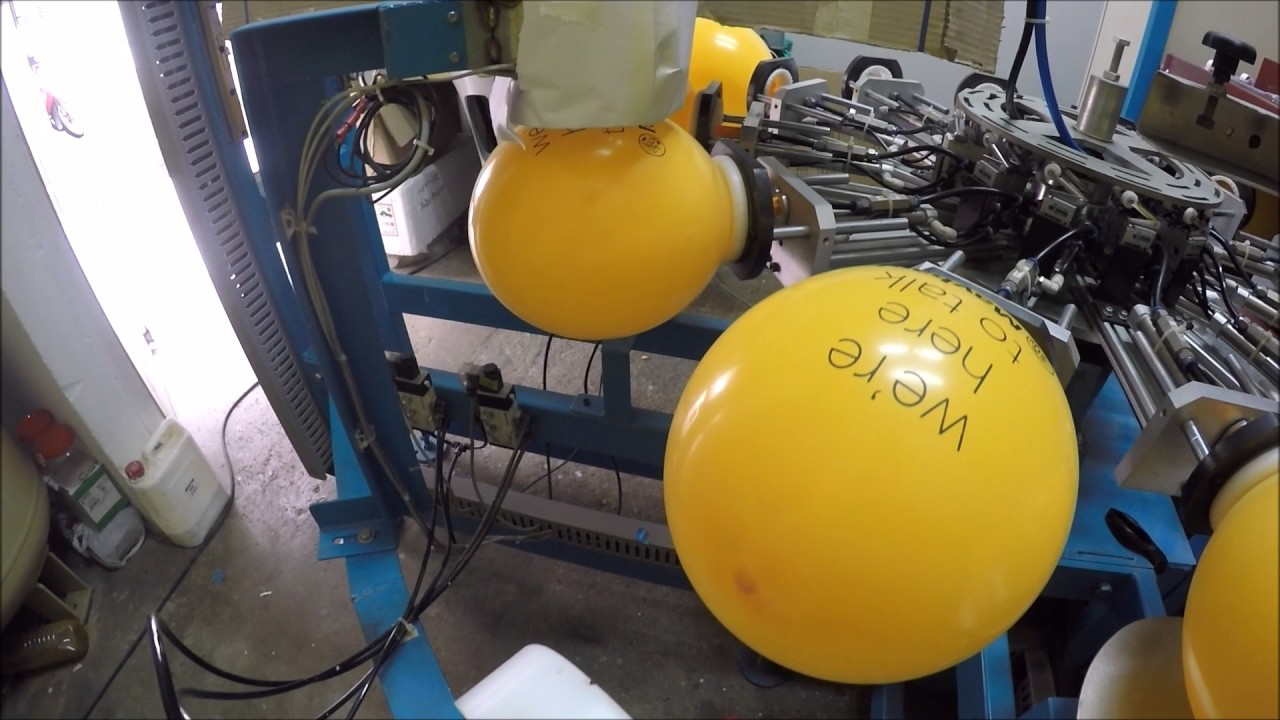 Be Mesmerized by Automatic Balloon Printing