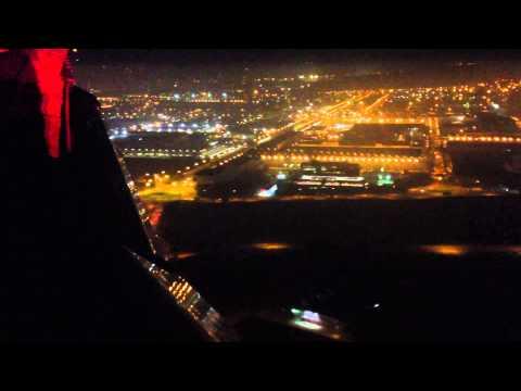 Amazing airplane landing in Barcelona