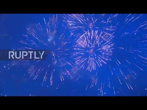 Russia: Fireworks light up Moscow for anniversary of Crimea's reunification with Russia
