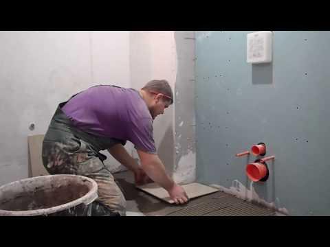 укладка плитки с чего начать стены или пол?