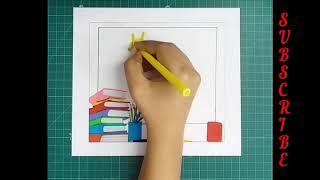 SERIES 15.9... HAPPY TEACHER'S DAY... Sketching... Books... Teacher's love... CrEaTiVe MiNd...