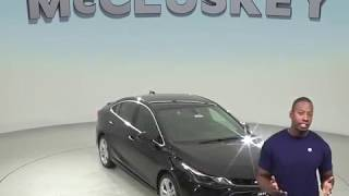 182783 New 2018 Chevrolet Cruze Premier FWD 4D Sedan Black Test Drive, Review, For Sale -