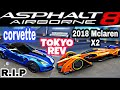 Asphalt 8 - 2018 McLaren X2 vs Chevrolet corvetre Grand Sport - Tokyo Rev. R.I.P