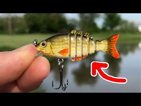 MICRO Jointed Swimbait!!! - SMALLEST In The WORLD! (Surprising Results)