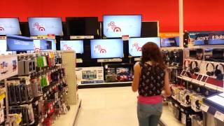 Viola turning the TV off at target
