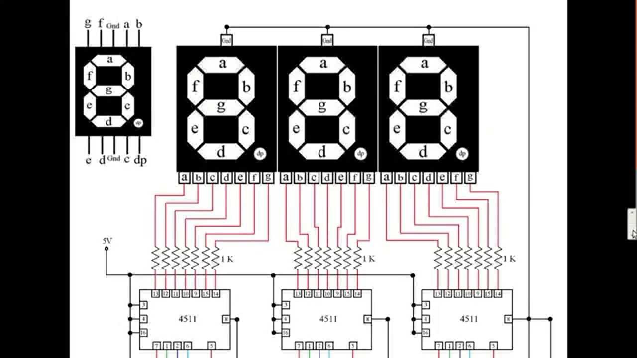 Control 3 Seven Segment Displays using Arduino Mega, 7490