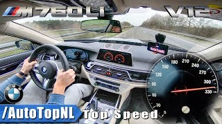 2018 BMW 7 SERIES M760Li V12 xDrive 320km/h ACCELERATION & TOP SPEED on AUTOBAHN by AutoTopNL