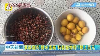 20190609中天新聞 大象、河馬慶端午 動物園特製窩窩頭蘋果粽
