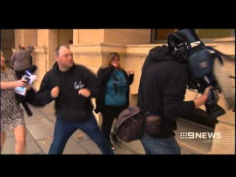 Cameraman Assault | 9 News Adelaide