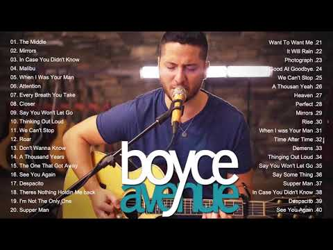 Boyce Avenue Greatest Hits - Boyce Avenue Acoustic Playlist 2020