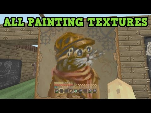 Minecraft Xbox - ALL 400+ Paintings (Every Texture Pack)