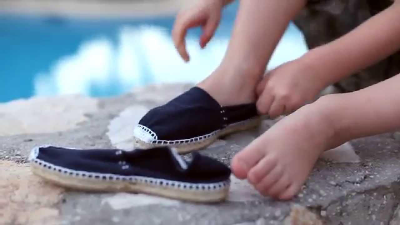 Alpargatas para ni os esparde as con el stico zapatos online pisamonas youtube - Alpargatas de esparto ...