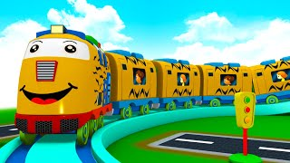 What A Busy Day - Choo Choo Cartoon Cartoon Train for Kids for Fun - Toy Factory