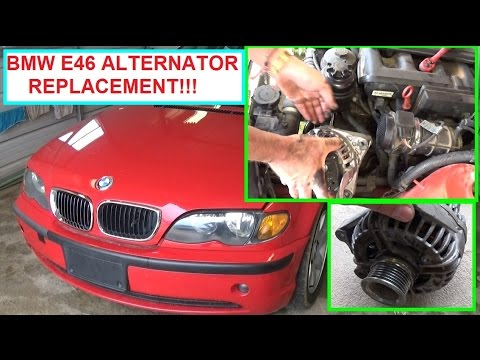 Bmw E46 Alternator Removal And Replacement 320i 323i