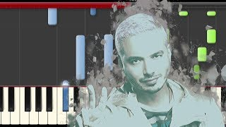 J. Balvin  Blanco Piano Cover Midi tutorial Sheet app  Karaoke
