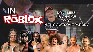 Roblox WWE Parody Announcement [CLOSED]