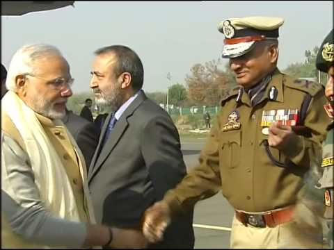 PM Modi arrival at Srinagar