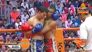 Jaisu Sorkhamsingha Thailand Vs Long Sophy Cambodia, Khmer Warrior Bayon TV Boxing 20 July 2018