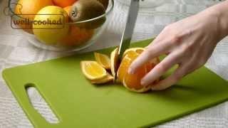 #003 Как нарезать апельсин дольками - секреты от well-cooked(Вы увидите, как можно быстро очистить апельсин и нарезать его мякоть. Больше полезной информации, а также..., 2015-04-02T09:01:56.000Z)