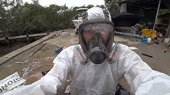 Hull work, asbestos removal and a small fire