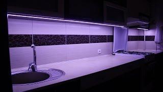 Монтаж светодиодной ленты, для освещения рабочей поверхности на кухне.(Монтаж светодиодной ленты 5630, для освещения рабочей поверхности на кухне. Лента куплена тут: http://ali.pub/p19ng..., 2016-02-22T21:06:40.000Z)
