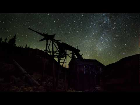 Abandoned Mine and Milky Way Time Lapse - Camping near Montezuma, Colorado