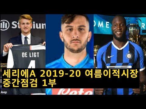 [세리에A리뷰] 2019-20시즌 여름이적시장 중간점검 1부