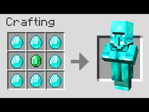 Minecraft but you can Craft Villagers...