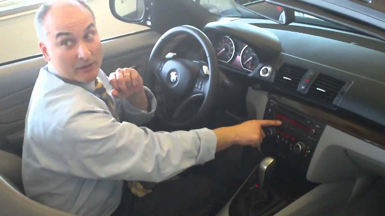 How To Change The Clock On A Bmw 128i Without Navigation Youtube