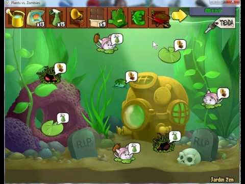 Jardin zen full plantas vs zombies youtube for Plantas para jardin zen