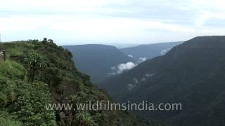Nohkalikai Falls cascading down the steep cliffs of Cherrapunji, Meghalaya