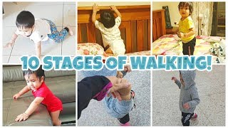 10 Stages of Walking | Series of Milestones baby needs to achieve to take FIRST BIG STEP!