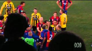 Newcastle Jets v Wellington Phoenix - Pre-Season friendly fight.