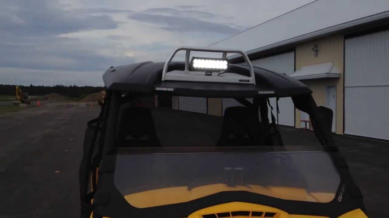 Can Am Commander XT 2012 LED Strobes Lights   YouTube