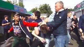 Хрюши против - массовая драка на Преображенском рынке (полная версия)