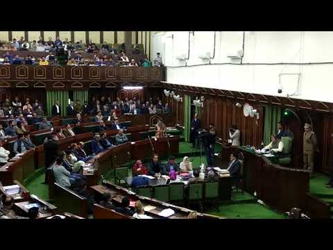 Mehbooba Mufti speaking in Assembly on grants pertain to departments headed by her as Chief Minister