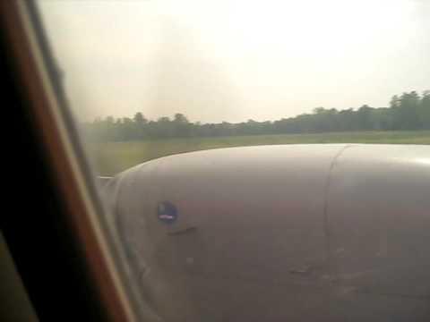 Landing in Golden Triangle Airport